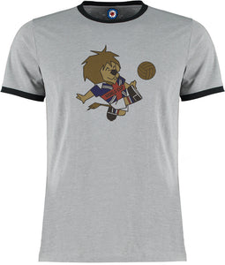 World Cup England 66 1966 Football Soccer Retro Vintage Ringer T-Shirt
