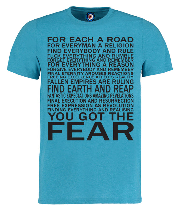 Fear Lyrics Ian Brown T-Shirt
