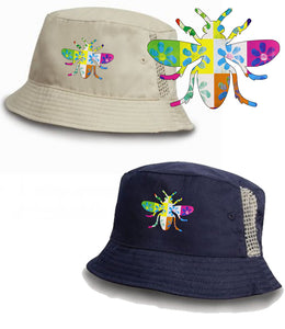 James Manchester Bee Daisy Flower Bucket Hat -  2 Colours