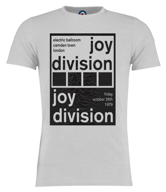 Joy Division Camden Town 1979 Poster Gig T-Shirt - Adults & Kids Sizes