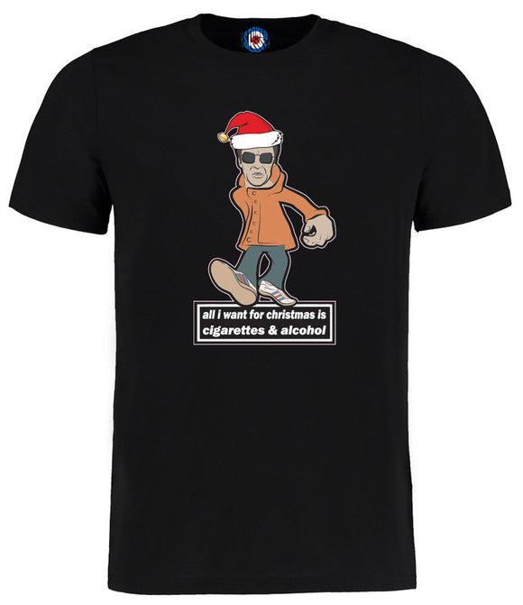 Liam Gallagher All I Want For Christmas Cigarettes & Alcohol Oasis T-Shirt