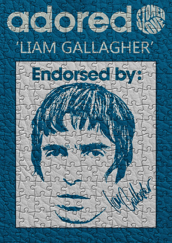 Adored Liam Gallagher Jigsaw Puzzle - 384 Pieces - Size A3 (40x29cm)