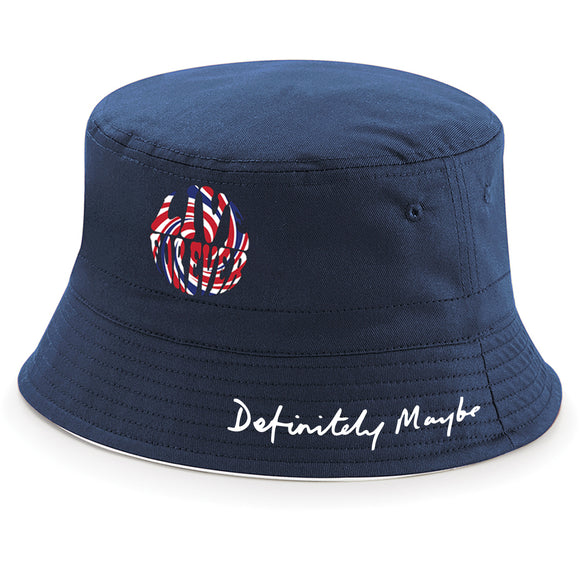 Live Forever Brit Swirl Definitely Maybe Bucket Hat