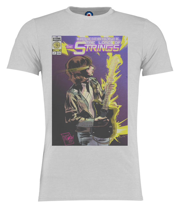 John Squire Lord Of The Strings Comic Style T-Shirt