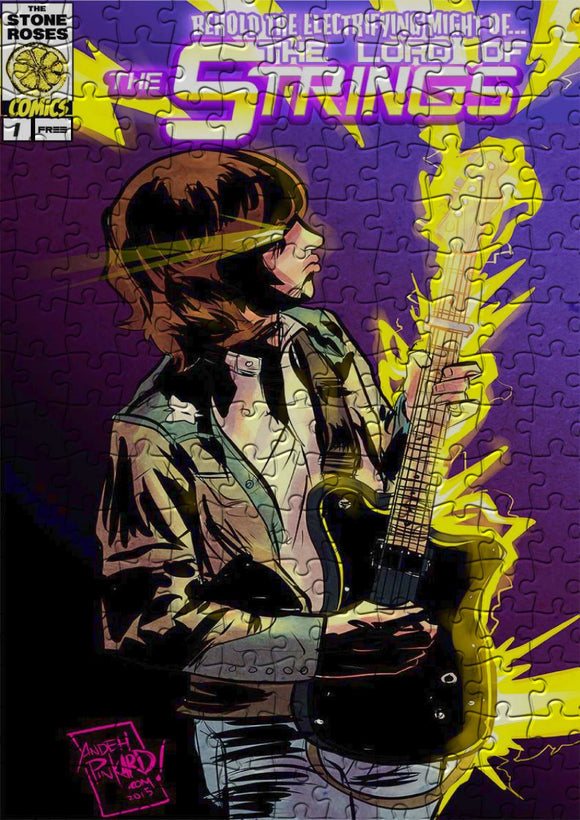 John Squire Lord Of The Strings Super Hero Comic Jigsaw Puzzle - 384 Pieces - Size A3 (40x29cm)