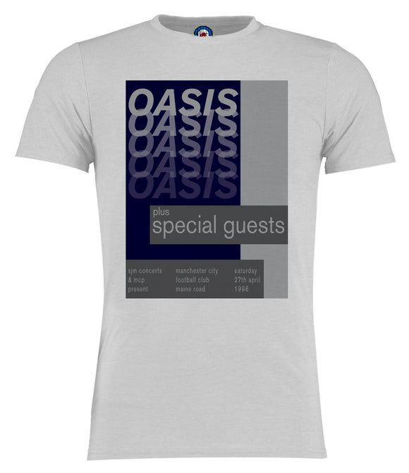 Oasis 1996 Maine Road Poster Gig T-Shirt