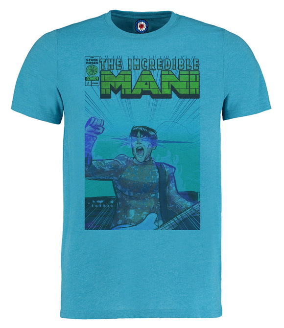 The Incredible Mani Stone Roses Comic Style T-Shirt