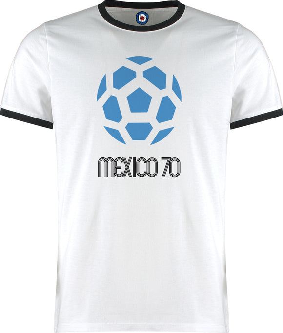 World Cup Mexico 1970 Football Soccer Retro Vintage Ringer T-Shirt
