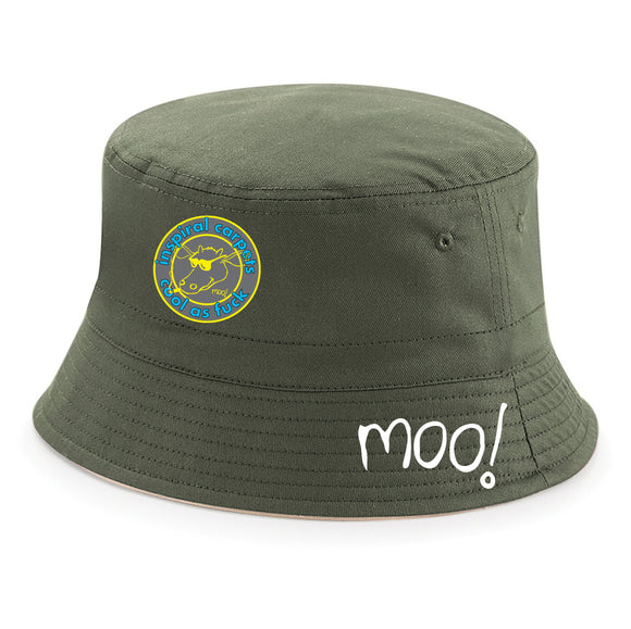 Cool As Inspiral Carpets Moo Cow Bucket Hat – 3 Colours