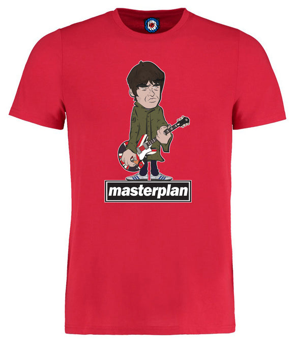 Master Plan Noel Gallagher Designed By Parka Monkey T-Shirt - 7 Colours