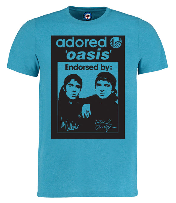 Oasis Adored Gallagher Brothers Pop Art T-Shirt - Adults & Kids Sizes