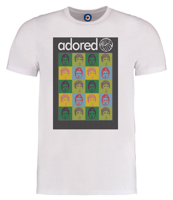 Oasis Adored Gallagher Brothers Warhol Pop Art T-Shirt