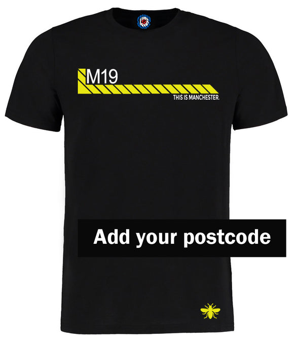 Personalised Manchester Post Code Hacienda Style T-Shirt - Add Your Post Code - All Sizes