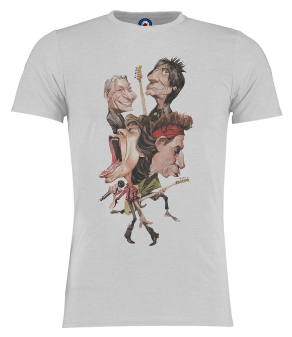 The Rolling Stones Mick Jagger Cartoon Caricature T-Shirt