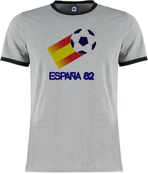 World Cup Espania 1982 Spain 82 Football Soccer Retro Vintage Ringer T-Shirt