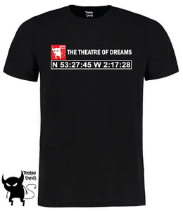 Treble Devil Theatre Of Dreams Manchester United Coordinates T-Shirt - 3 Colours - Adults & Kids Sizes