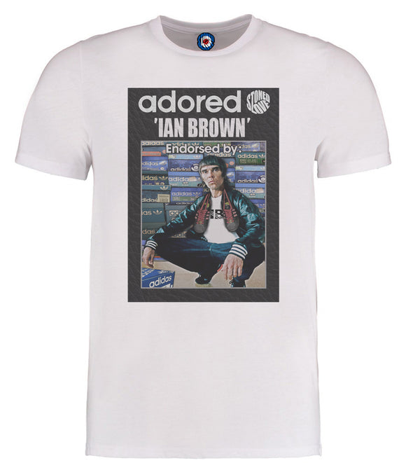 Stone Roses Adored Ian Brown Trainers T-Shirt