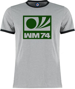 World Cup West Germany 74 1974 Football Soccer Retro Vintage Ringer T-Shirt