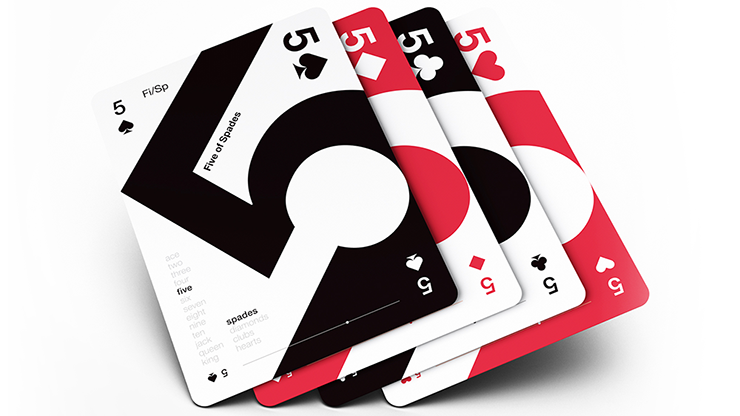 Grid Series Three - Typographic Playing Cards