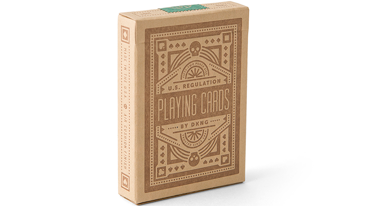 Green Wheel Playing Cards