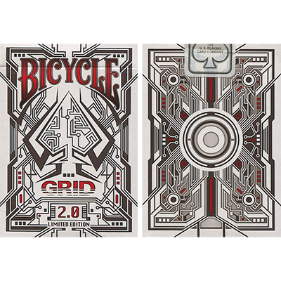 Grid 2.0 Limited Edition Playing Cards (Red)