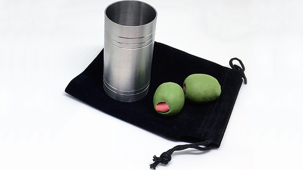 "Spirit/Shot Measure ""Chop Cup"" with Olives"