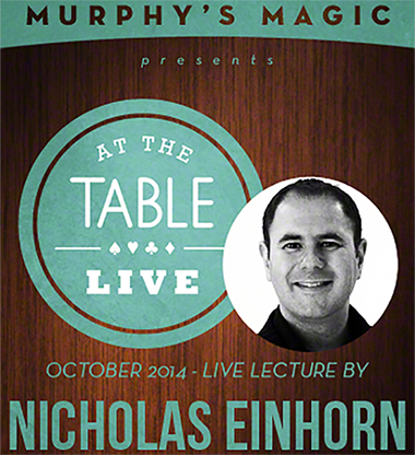At The Table Live Lecture - Nicholas Einhorn