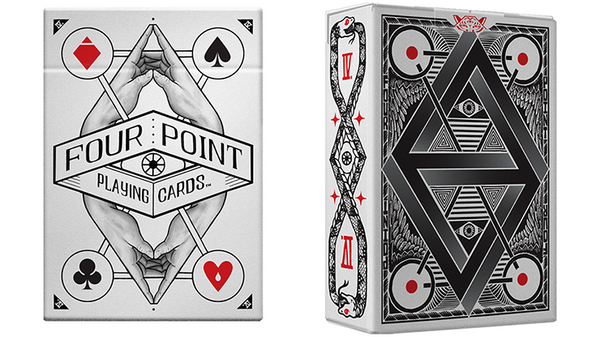 1st Edition White Deck (Four Points) Playing Cards