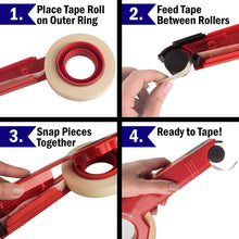 Industrial 1 Inch Masking Tape Dispenser Saves Time and Frustration on Your Painting Project. Quick and Easy One-Handed Application Tool Creates Crisp, Clean Lines for Impressive, Professional Results