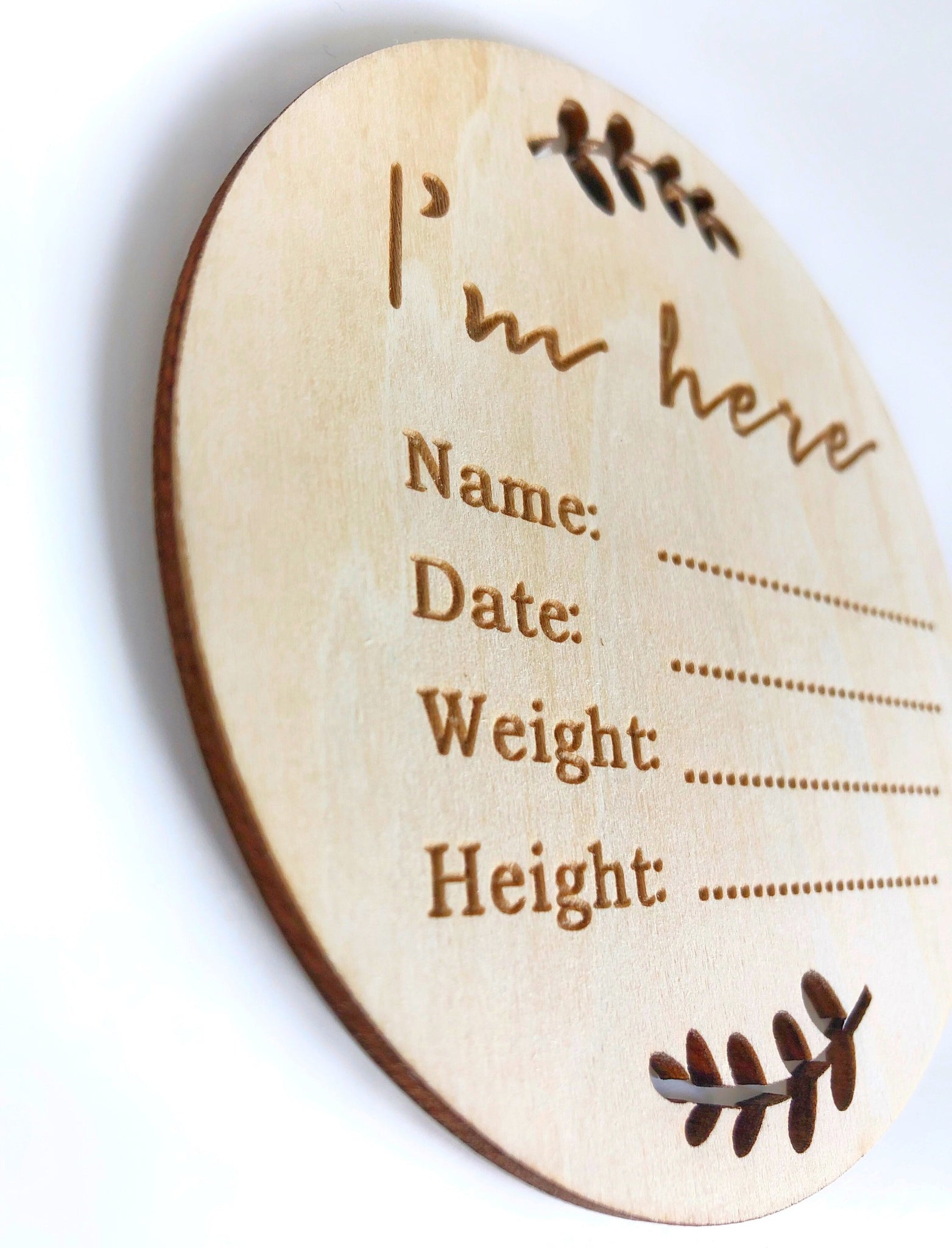 Baby sign. Newborn informstion sign Newest additions sign