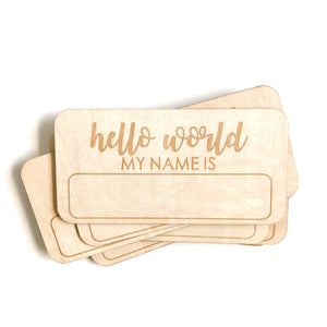 *NEW* Blank Hello World Name Tag