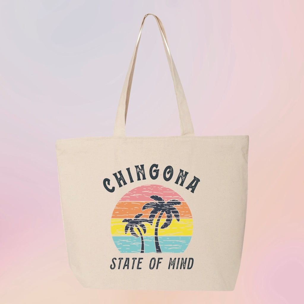 Chingona State of Mind Canvas Tote