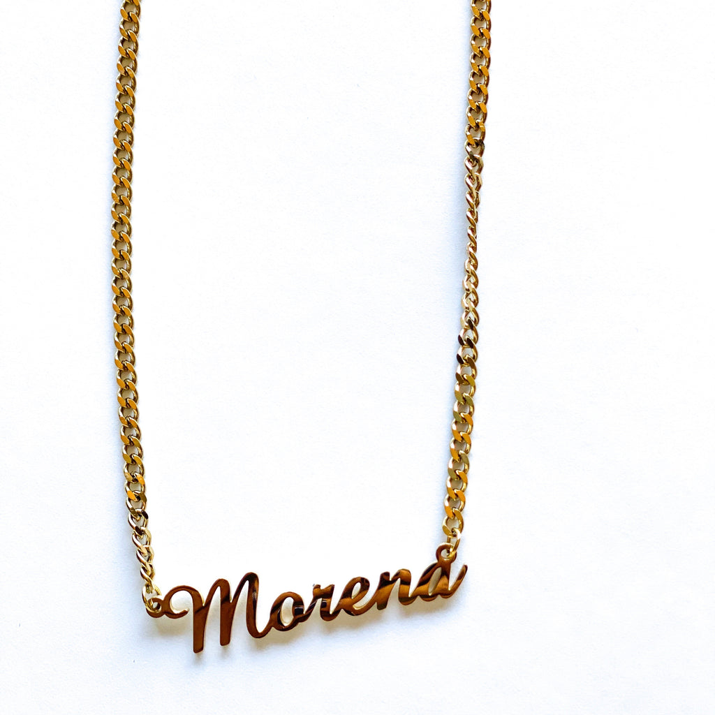 Morena Stainless steel necklace- gold plated
