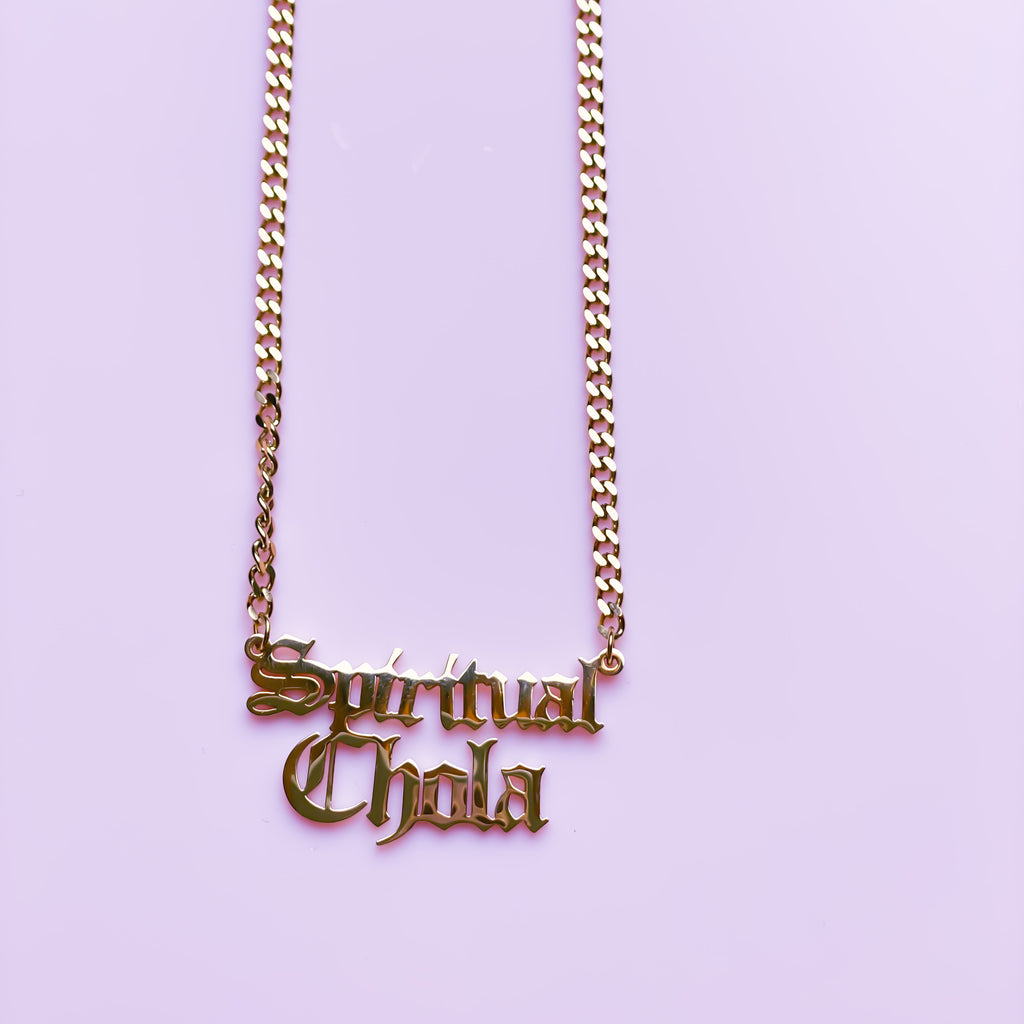 Spiritual Chola  Necklace - Old English