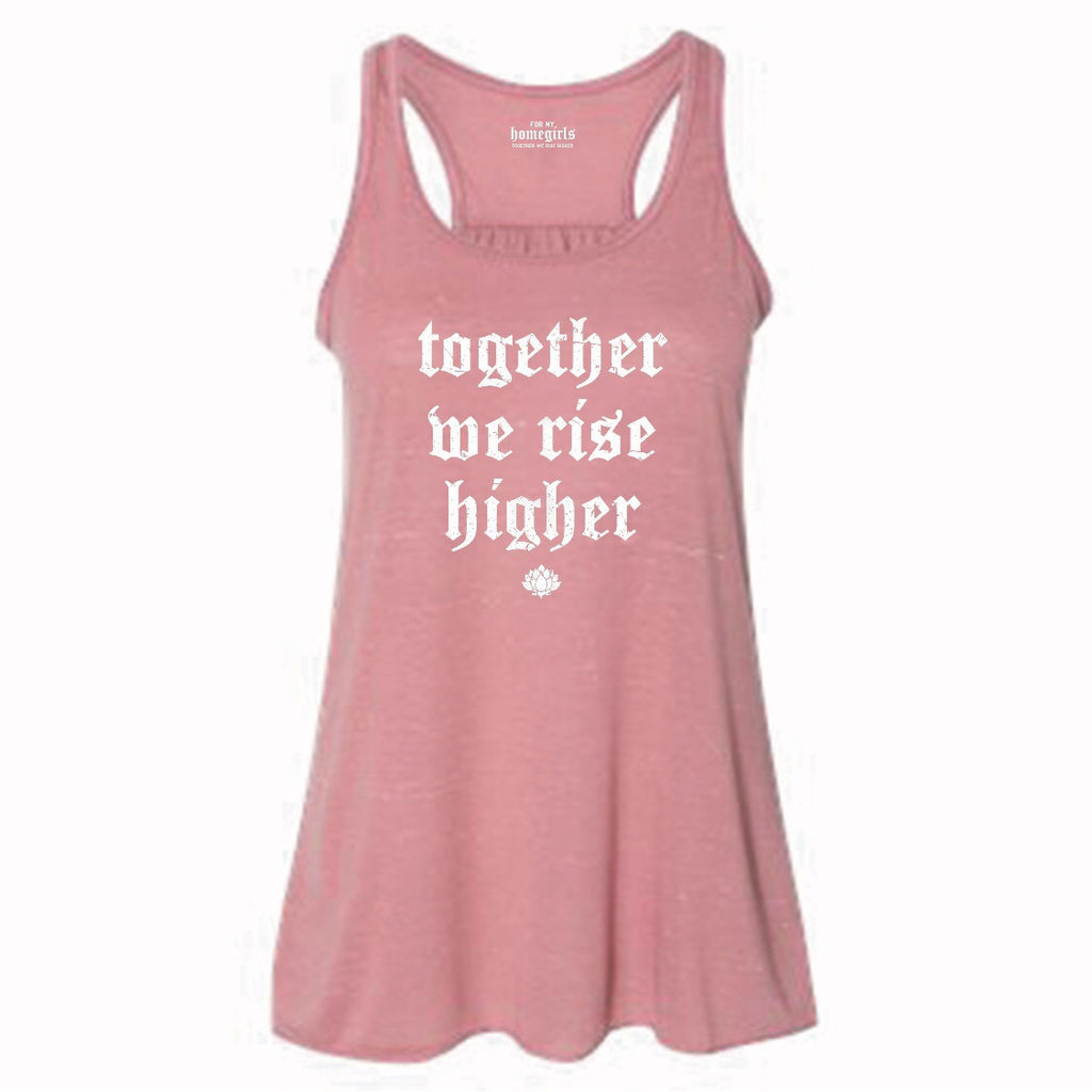 TOGETHER WE RISE HIGHER FLOWY TANK TOP- Mauve Marble