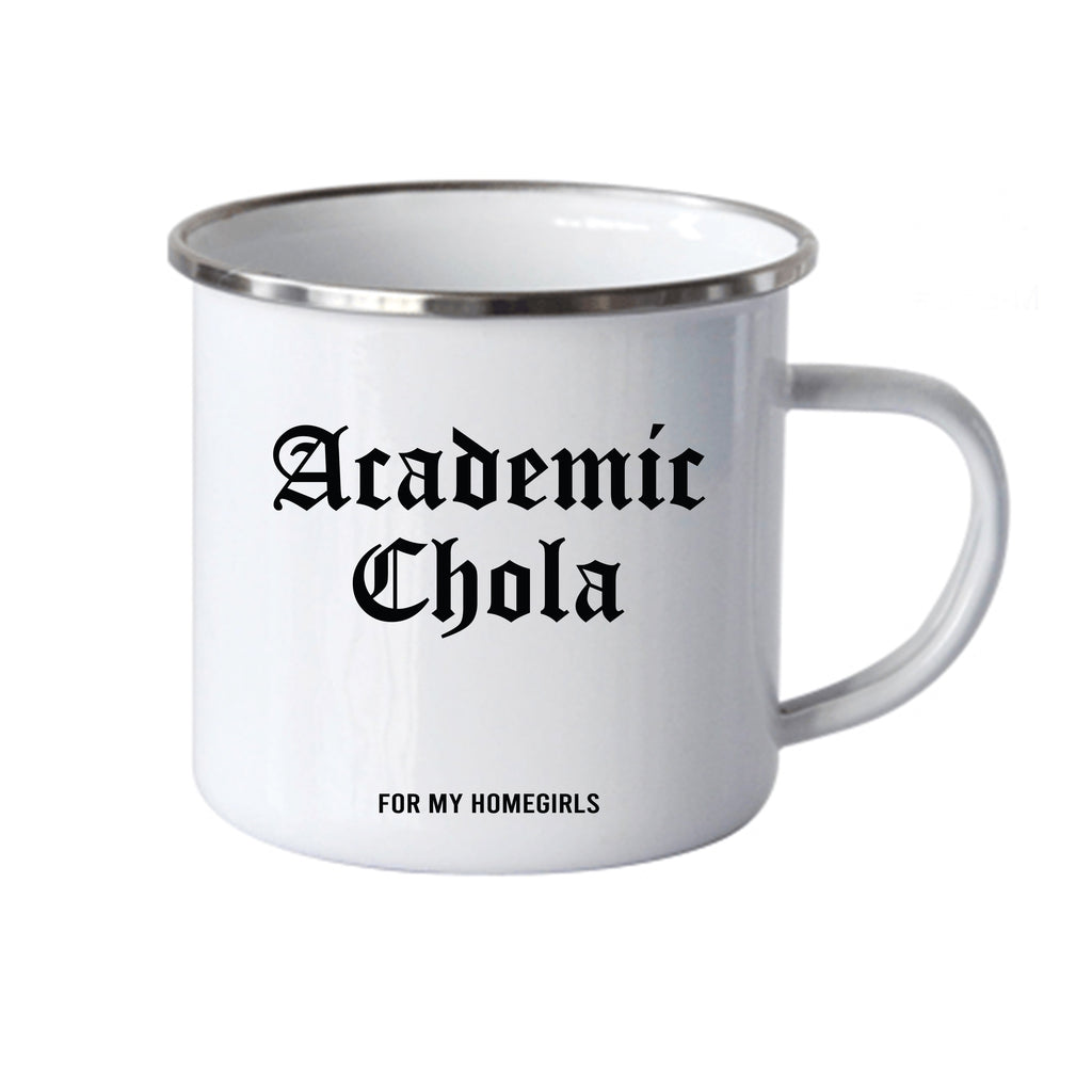 Academic Chola Stainless Steel Mug- Black