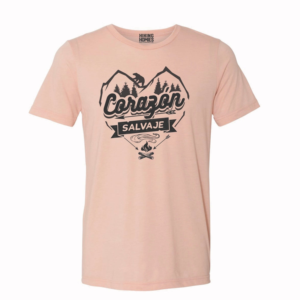 Peach Corazon Salvaje (Unisex T-Shirt)