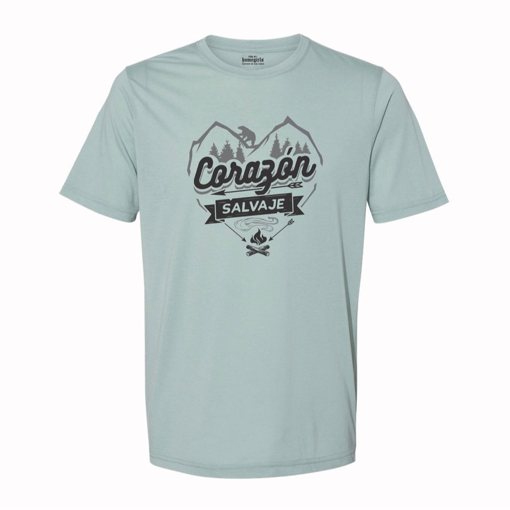 Dusty Blue Corazon Salvaje (Unisex T-Shirt)