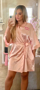 Pink on Pink SpoiledLatina satin robe