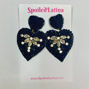 Black Corazon earrings