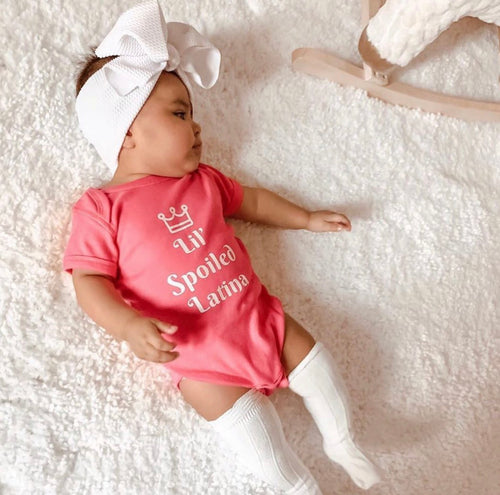 "Baby onsie ""Lil Spoiled Latina"""