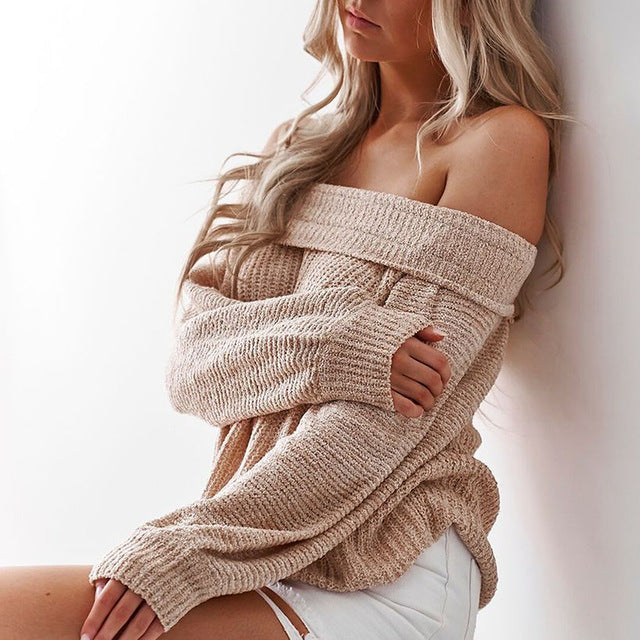 A FAVORITE! Knitted Off Shoulder Sweater | kindagoodgirlkindahood
