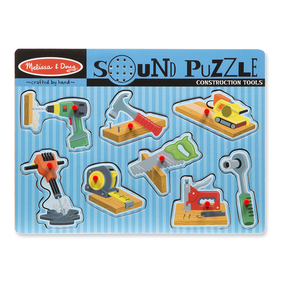 Melissa Doug Construction Tools Sound Puzzle 733