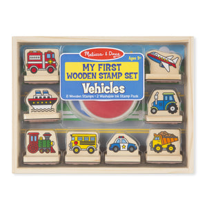 Melissa Doug My First Wooden Stamp Set - Vehicles 2391
