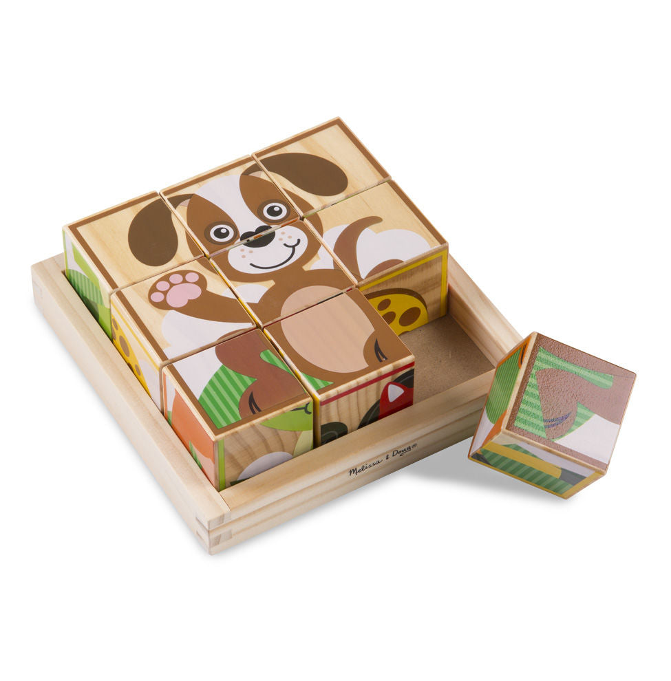 Melissa Doug My First Wooden Cube Puzzle - Animals 3769