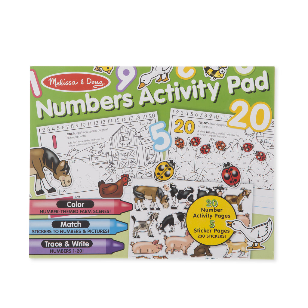 Melissa Doug Numbers Activity Pad 8566