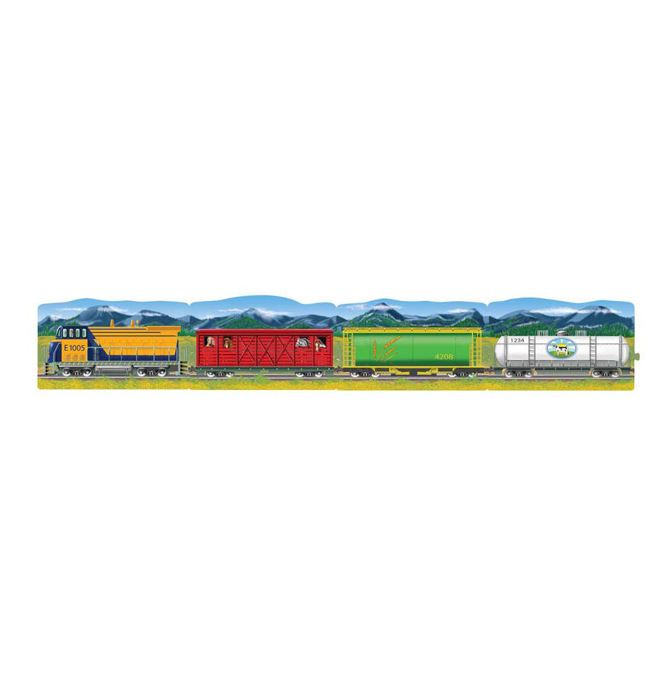 Melissa Doug Trains Linking Floor Puzzle (96 pc) 8910