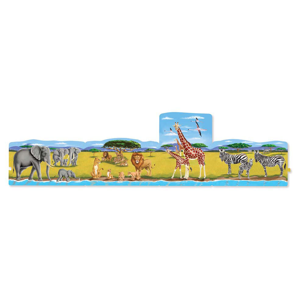 Melissa Doug Safari Linking Floor Puzzle (96 pc) 8915