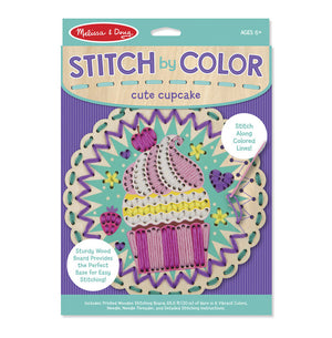 Melissa Doug Stitch by Color - Cute Cupcake 8918