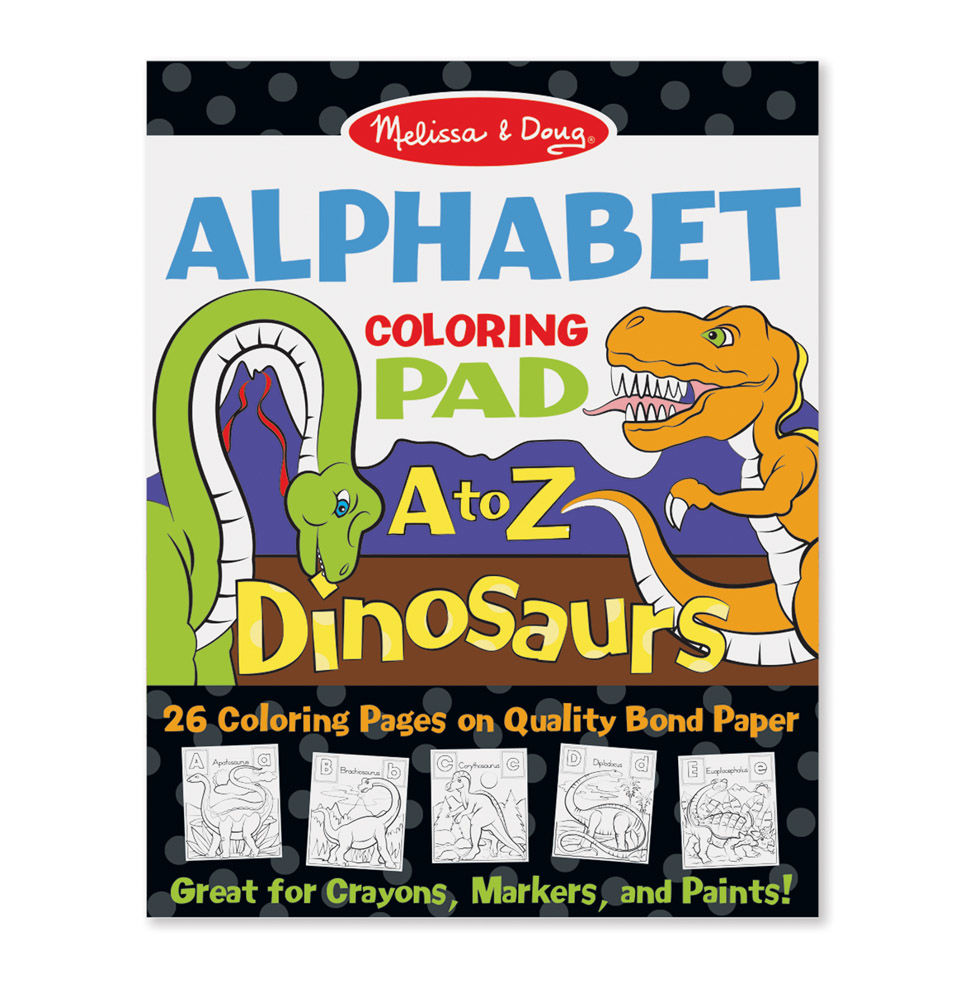 Melissa Doug Dinosaurs Alphabet Coloring Pad A to Z 9108